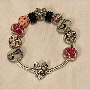 💗Minnie-Mouse-Charm/925 Silver Minnie Bracelet🌸